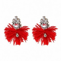 4 Colors Good quality Trendy Stud Earrings wholesale fashion crystal tassel earrings JUJIA JEWELRY for women