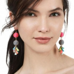 JUJIA Good Quality T Show Bohemia Tassels Dangle Earrings Women Accessories Cotton Handmade Fringed Earring Jewelry Trendy Style