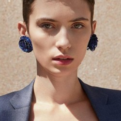 JUJIA 13 colors good quality hand made Sequins flower earring New statement fashion stud Earrings for women wholesale
