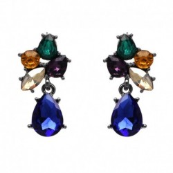 HOT sale good quality small lovely colorful crystal stud earrings design luxury jewelry wholesale charm accessoris