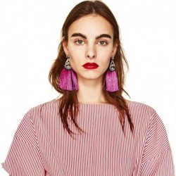 JUJIA FALCON TASSEL EARRING HAND MADE STATEMENT EARRING MULTICOLOURED POMPOM FRINGED EARRING FASHION JEWELRY