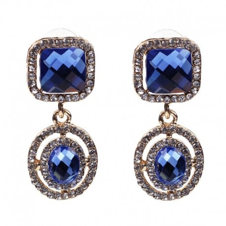 New 2017 high quality Trend fashion hot sale women square all crysta vintage statement Earrings for women jewelry Factory Price