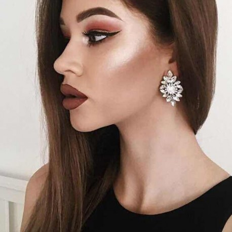 Full Crystal 2017 New Fashion Jewelry with Good Quality, Hot Sale Crystal Earring for Women, Statement Stud Earring