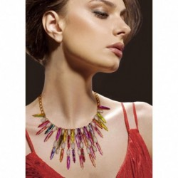 JUJIA 2017 good quality fashion torques colorful crystal necklaces & pendants choker pendant statement maxi necklace