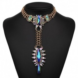 JUJIA New fashion necklace costume collar good quality big crystal choker pendant Necklaces statement necklace