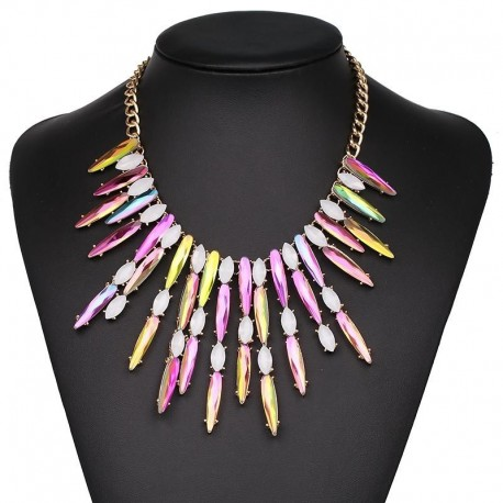 JUJIA 2017 new good quality Free Shipping fashion torques colorful necklace choker pendant statement Necklaces
