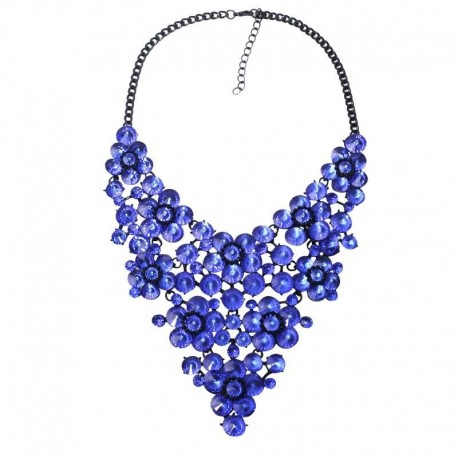 9 colors good quality full crystal fashion necklace collar big choker crystal Necklaces & Pendants maxi statement necklace