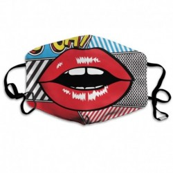 Comic Pop Art Oh Lips Washable Reusable   Mask, Cotton Anti Dust Half Face Mouth Mask For Kids Teens Men Women With Adjustable