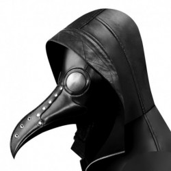 Gear Duke Halloween Gothic Black PU Beak Mask Steampunk Plague Doctor Retro  Cool Bird Mouth Mask Masquerade Party Cosplay Props