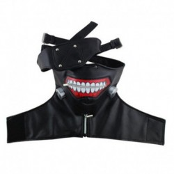 Gothic Punk Mens Mask Cosplay Costume Scary Eye Mouth Mask Holloween Party Adults