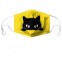 HYCOOL Face Masks for Adults Children Yellow Cat Print Unisex Mouth Mask Filters Outdoor Walking Fashion Party Mouth-muffle