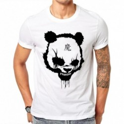 100% Cotton Gothic Style Hip Hop Men's Tee Harajuku Summer Fashion Panda 3D Printed Shirt Casual T-shirt Tees Slim T Shirts