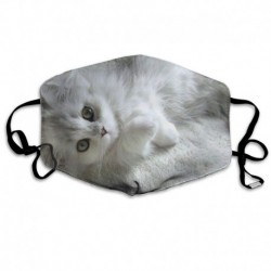 Small Cute Cat Anti Dust Half Face Mouth Mask, Unisex Cotton Warm Fashion Adjustable Washable Mask