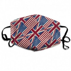 Retro Uk Usa National Flag Washable Reusable Mask, Cotton Anti Dust Half Face Mouth Mask For Kids Teens Men Women With
