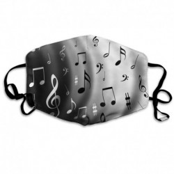 Unisex Print Mouth Mask - Music Notes Pale Background Polyester Anti-dust Mouth-Muffle - Fashion Washed Reusable Face Masks for
