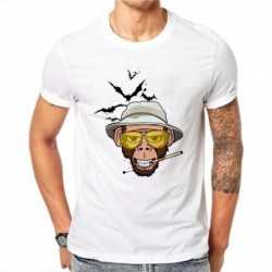 100% Cotton Simple Smoking Design Men T-shirt Novelty Animal Printed Male Cool Tops Short Sleeve Casual Tee T Shirts