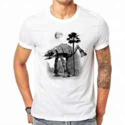 100% Cotton Simple Trojan Horse Design Men T-shirt Novelty Design Printed Male Cool Top Short Sleeve