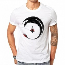 100% Cotton Summer Fashion Men T Shirt Short Sleeve O-neck Couples Tops Creative Ink Painting Printed T Shirts Cool Tee