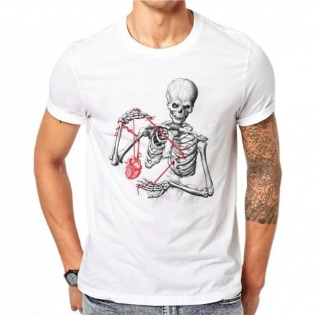 100% Cotton Summer Fashion Men T Shirt Short Sleeve O-neck Couples Tops Creative Skull Printed T Shirts Cool Tee 4XL