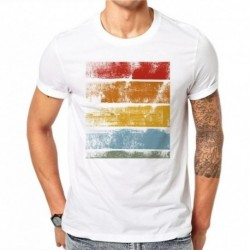 100% Cotton Summer Wood Grain Design Men T Shirts Fashion Simple Man Short Sleeve Tops Tees Clothes XXXXL