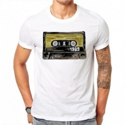 100% Cotton T Shirt Nostalgic Tapes Design T Shirts Summer Fashion Hip Hop Short Sleeve Casual Tees Tops Men Plus Size 4XL