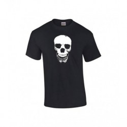 2018 Brand T Shirt Fashion O-Neck Cotton Short Sleeve Mens Skull Face T Shirt Black Shirt Black Ink Shirts