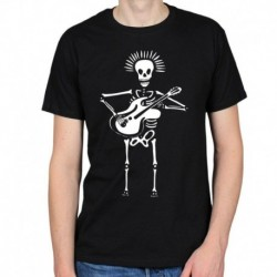 2018 Hot Sale 100% cotton MARIACHI SKELETON DAY OF THE DEAD MEXICAN TATTOO BODY ART INK MENS T-SHIRT TEE Tee shirt