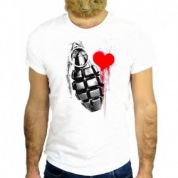 2018 New Fashion Brand Print T-Shirt Male Brand Bomb Heart War Love Ink Funny Cool Fashion Nice Fitted T Shirts