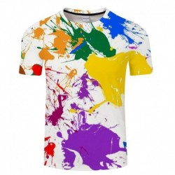 2018 summer Colorful Ink 3D Print t shirt Men Women tshirts Summer Funny Art Short Sleeve O-neck Tops&Tees Hot 2018 Drop Ship