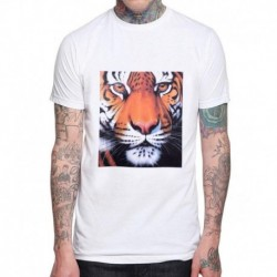 2019 New Fashion Men T Shirt Animal Tiger 3D Ink Printing T-shirts Good Quality Cotton Comfortable Casual Tops Male Tee Shirts