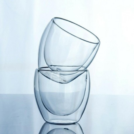 150/250/350/450ml Double Wall Cup Clear Coffee Glass Tea InsulatedMug Espresso Thermal Insulation Fashion Insulate Wine Beer Cup