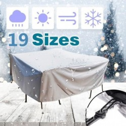 19 Sizes Furniture Dust Cover Waterproof Cover Outdoor Patio Garden Rain Snow Chair covers for Sofa Table Chair Dust Proof Cover