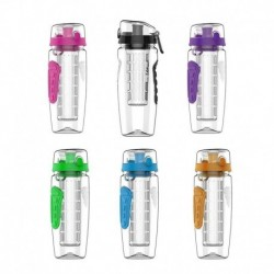 1L Portable Juice Water Bottle Drinkware Bottle Fruit Infuser Sport Bottle Juice Shaker Travel Sport Water Bottle Detox Bottle