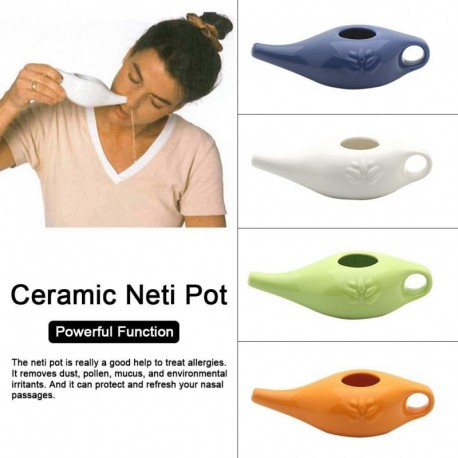 250ml Ceramic Neti Pot Nasal Wash System Cleaner Nose Washing Kit For Sinus Rhinitis Allergy Nose Yoga Detox Rinse