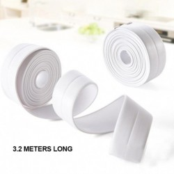 3.8*320cm Self Adhesive Home Kitchen Ceramic PVC Tape Sticker Waterproof Anti-moisture Bathroom Wall Corner Line Sink Stickers