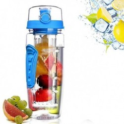 32oz 1000ml BPA Free Fruit Infuser Juice Shaker Sports Lemon Water Bottle Tour hiking Portable Climbing Camp detox Bottles