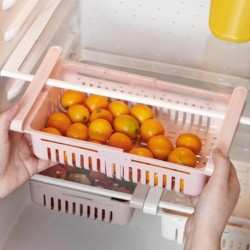 Basket Fridge organizer refrigerator Retractable drawer Type Refrigerator Container Box FoodFruit organizer Storage tray kitchen