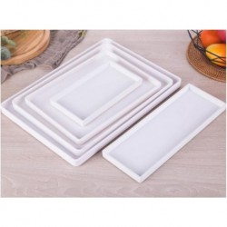 Black White Rectangular Hotel Melamine Tray Water Cup Tea Tray Creative Plastic Room Washing Storage Trays