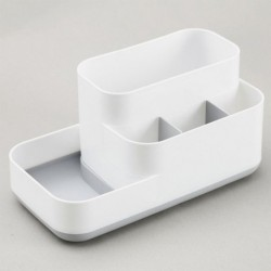 Functional Cosmetic Holder Desktop Grids Cosmetics Makeup Container Kitchen Bathroom Organizer Office Jewelry Storage Box