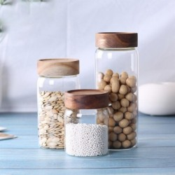 kitchen jars candy glass jar with lid sugar bowl storage jars for spices glass containers for food coffee/tea/confectioner glass