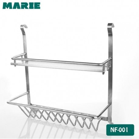 Kitchen Shelves 2 Layer Rack Metal Cosmetic Storage Basket Shelf with hang lever Condiment Storage Rack Dish Drying Rack