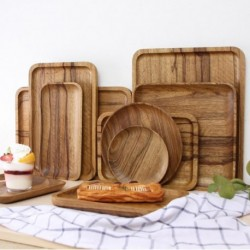 Natural Zebra Wood Modern Simplicity Serving Tray Kung Fu Tea Cutlery Trays Pallet Fruit Dessert Plate 15 Sizes Available