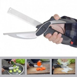 Stainless Steel Kitchen Scissors 2 in 1 Cutting Board Chopper Clever Fruit Vegetable Multifunctional Cutter Drop shipping
