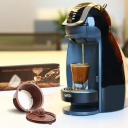 Upgraded Coffee Capsule For Nescafe Dolce Gusto Reusable Coffee Tea Filters Dripper Baskets Get 1 Brush 1 Spoon