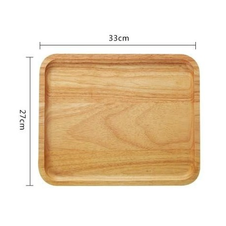 Wooden Plate Serving Tray Large Coffee Tea Tray Cake Dessert Serving Plate Dishes Wood Tray Kitchen Wooden Utensils Tableware