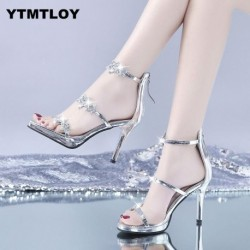 2019 New Fashion Women Pumps Crystal High Heel Pumps Shoes For Women Sexy Peep Toe High Heels Sandals Party Wedding Shoes Woman