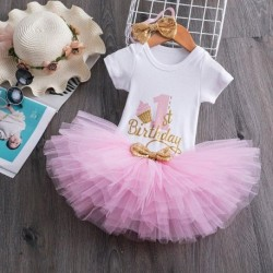 Baby Girl 1 year birthday Tutu Dress Toddler Girls 1st Birthday Party Christening Outfits Princess Costumes for 12 months Girls