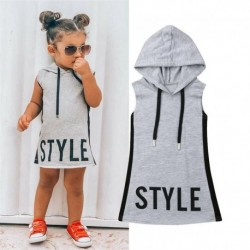 Baby Girl Pudcoco Clothes Hooded Dress For Kids Girls Dresses Summer Tunic Children Kid Letter Dress Casual Party Sundress 1-6T