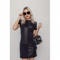 Cool Streetwear Black Mini Women Dress Ladies Long Sleeve Patchwork o Neck Party Dress Fashion Female Club Sexy Summer Dress