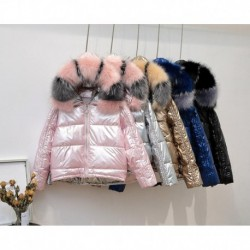2019 New Fur Collars Jacket Hooded Down Jacket for Women New Winter Coat Women Bright Faced High Quality Winter Jacket